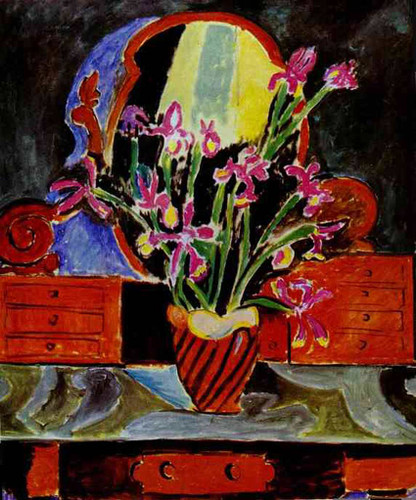 Vase Of Irises 1912 By Henri Matisse Art Reproduction from Wanford