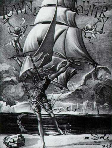 Victory Woman Metamorphosing Into A Boat With Angels By Salvador Dali Art Reproduction from Wanford