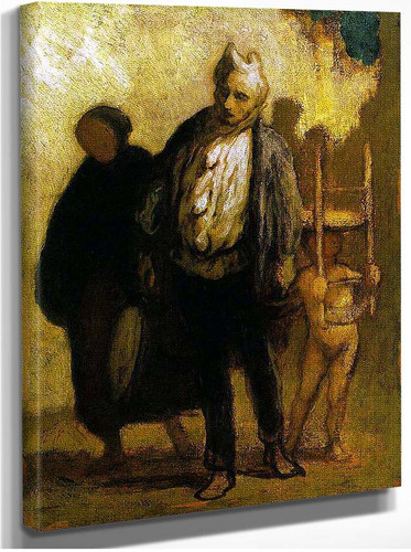 Wandering Saltimbanques By Daumier Honore