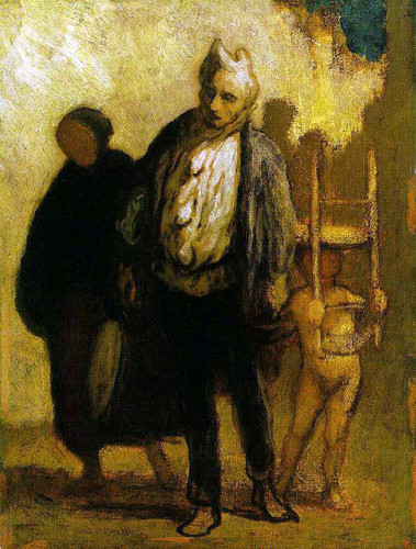 Wandering Saltimbanques By Daumier Honore Art Reproduction from Wanford