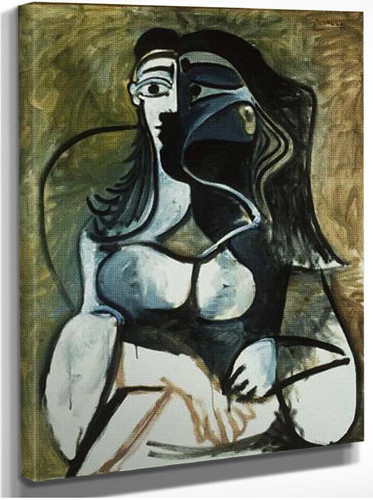 Woman In Armchair 1960 By Pablo Picasso