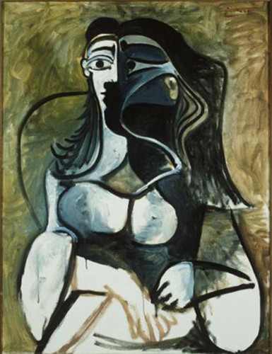 Woman In Armchair 1960 By Pablo Picasso Art Reproduction from Wanford