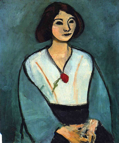 Woman In Green With A Carnation 1909 By Henri Matisse Art Reproduction from Wanford