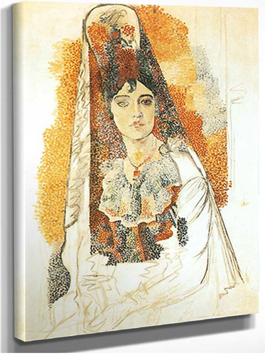 Woman In Spanish Costume By Pablo Picasso