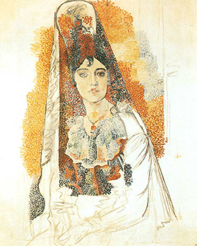 Woman In Spanish Costume By Pablo Picasso Art Reproduction from Wanford