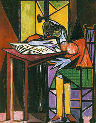Woman Reading By Pablo Picasso Art Reproduction from Wanford