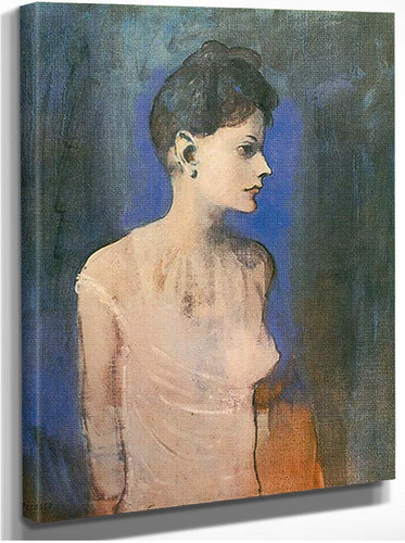 Woman Wearing A Chemise2 By Pablo Picasso