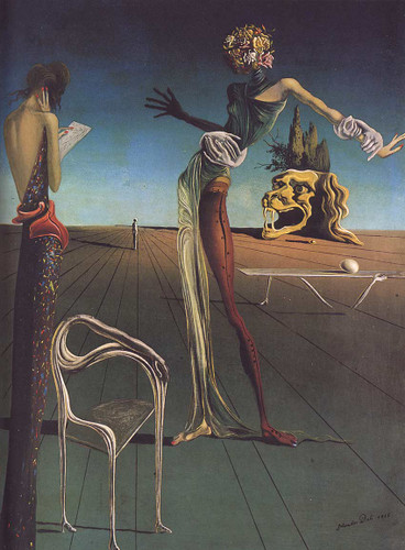 Woman With A Head Of Roses By Salvador Dali Art Reproduction from Wanford