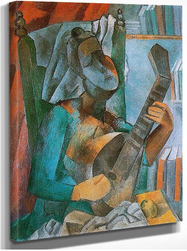 Woman With A Mandolin 1909 By Pablo Picasso