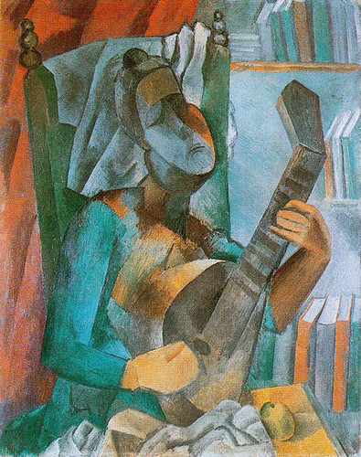 Woman With A Mandolin 1909 By Pablo Picasso Art Reproduction from Wanford