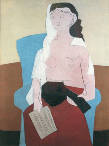 Woman With A Mandolin By Pablo Picasso Art Reproduction from Wanford