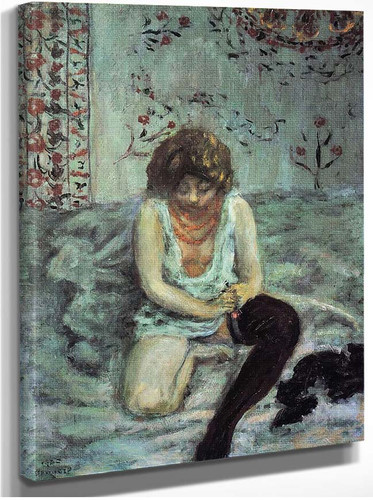 Woman With Black Stockings 1900 By Pierre Bonnard