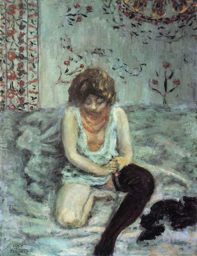 Woman With Black Stockings 1900 By Pierre Bonnard Art Reproduction from Wanford