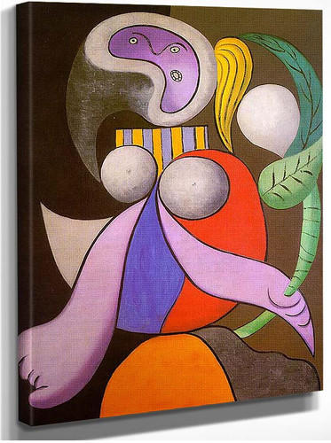 Woman With Flower 1932 By Pablo Picasso