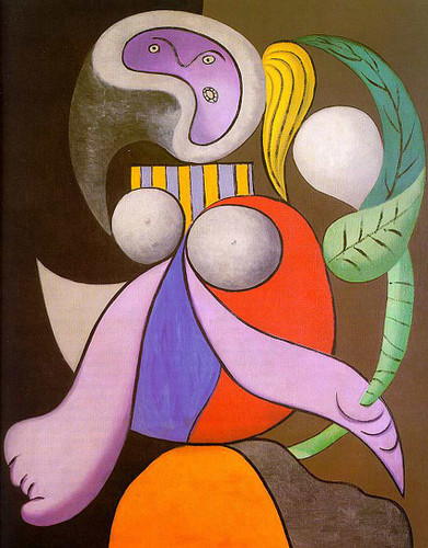 Woman With Flower 1932 By Pablo Picasso Art Reproduction from Wanford