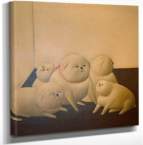 Perros By Fernando Botero Art Reproduction from Wanford.