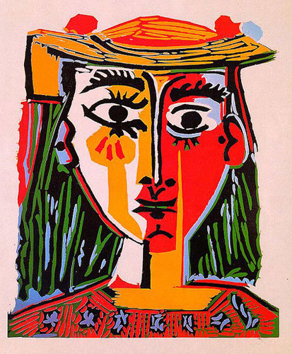 Woman With Hat 1962 By Pablo Picasso Art Reproduction from Wanford