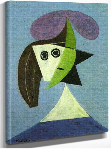 Woman With Hat Olga 1935 By Pablo Picasso