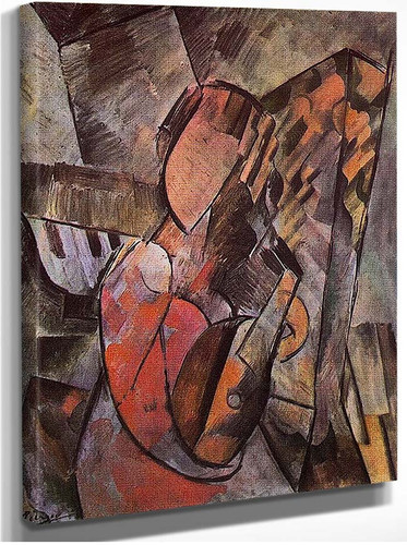 Woman With Mandolin 1909 By Pablo Picasso