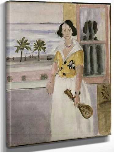 Woman With Mandolin 1922 By Henri Matisse