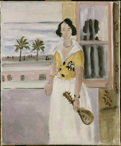 Woman With Mandolin 1922 By Henri Matisse Art Reproduction from Wanford