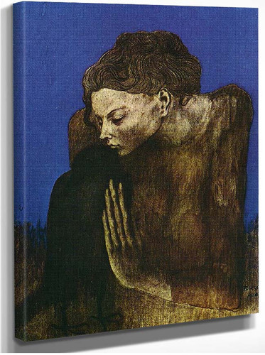 Woman With Raven 1904 By Pablo Picasso