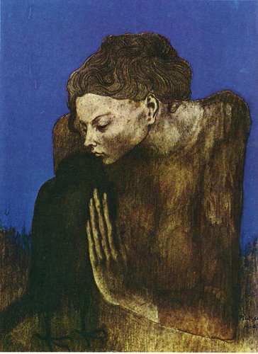 Woman With Raven 1904 By Pablo Picasso Art Reproduction from Wanford
