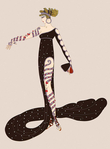Wonderful By Erte Art Reproduction from Wanford