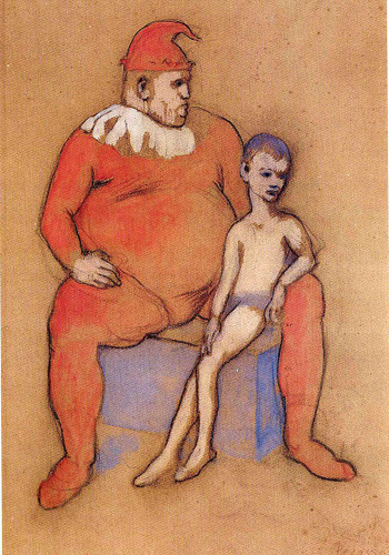 Young Acrobat And Clown 1905 By Pablo Picasso Art Reproduction from Wanford