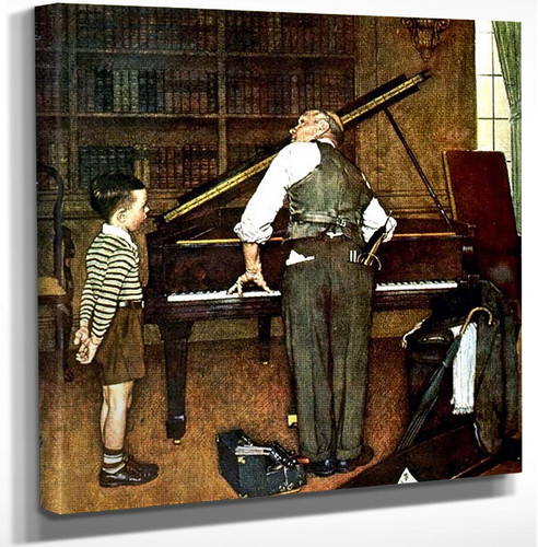 Piano Tune By Norman Rockwell Art Reproduction from Wanford.