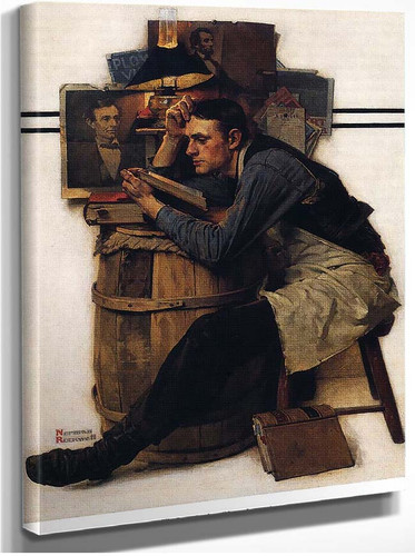 Young Lawyer By Norman Rockwell