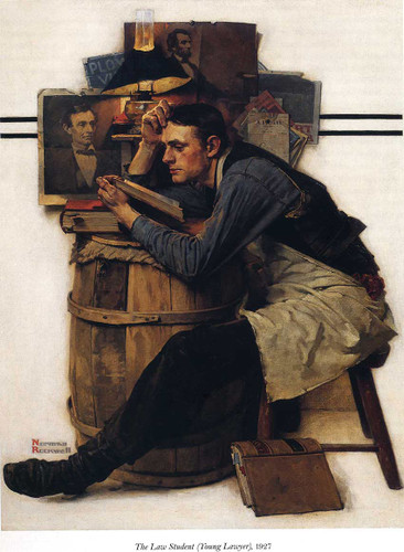 Young Lawyer By Norman Rockwell Art Reproduction from Wanford