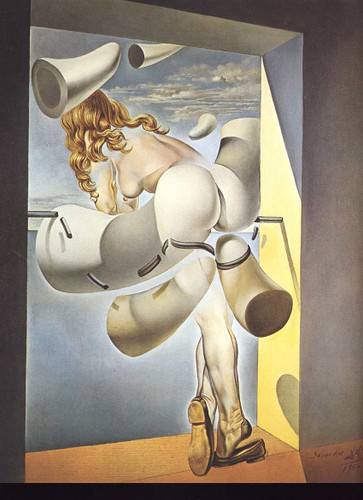Young Virgin Auto Sodomized By The Horns Of Her Own Chastity By Salvador Dali Art Reproduction from Wanford