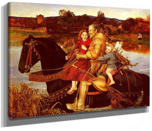 A Dream Of The Past Sir Isumbras At The Ford 1857 By John Everett Millais