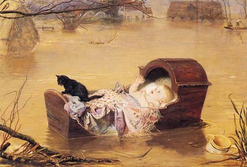 A Flood By John Everett Millais