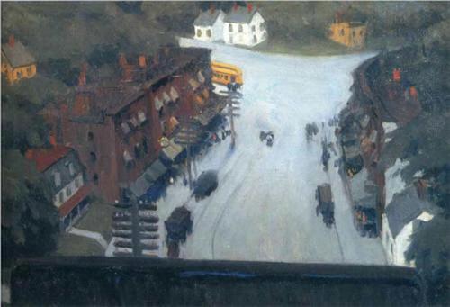 American Village By Edward Hopper