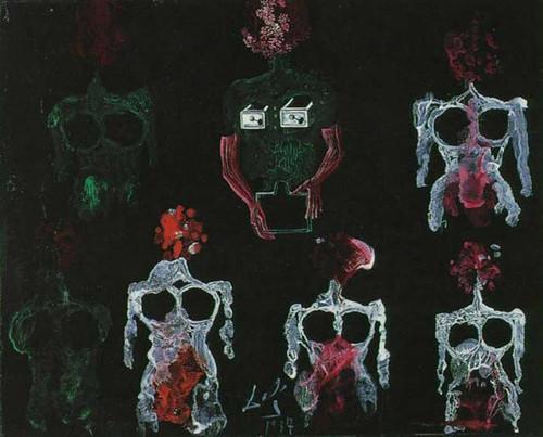 Anatomical Studies Transfer Series By Salvador Dali