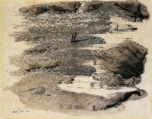 Animated Surrealist Landscape By Salvador Dali