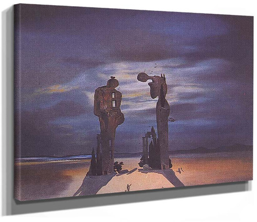Archaeological Reminiscence Of Millet S Angelus By Salvador Dali