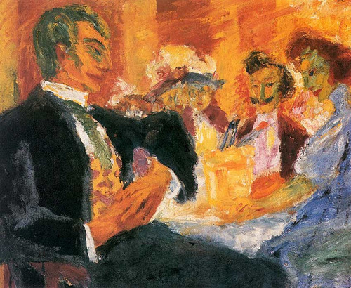 At The Caf By Emil Nolde