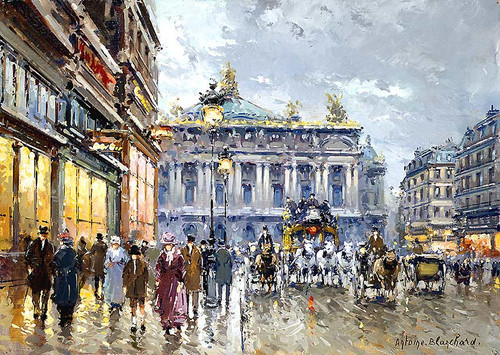 Avenue De L Opera By Antoine Blanchard