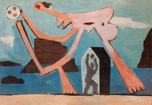 Ballplayers On The Beach 1928 By Pablo Picasso