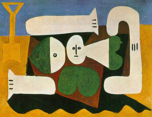 Bather With Sand Shovel By Pablo Picasso