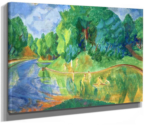 Bathers In The Park By Erich Heckel