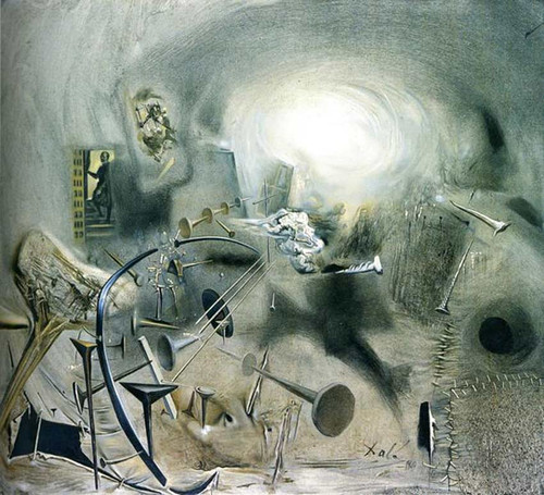 Portrait Of Juan De Pareja Adjusting A String On His Mandolin By Salvador Dali Art Reproduction from Wanford.