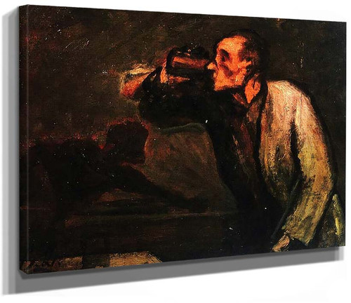 Billiard Players By Daumier Honore