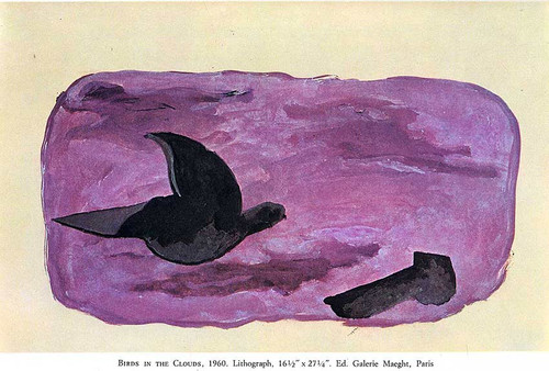 Birds In The Clouds 1960 By Georges Braque