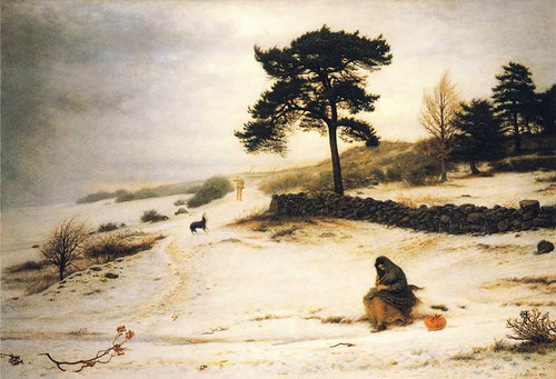 Blow Blow Thou Winter Wind By John Everett Millais