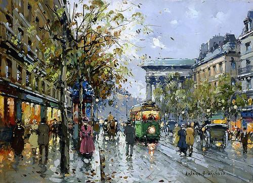 Boulevard De La Madeleine 3 By Antoine Blanchard