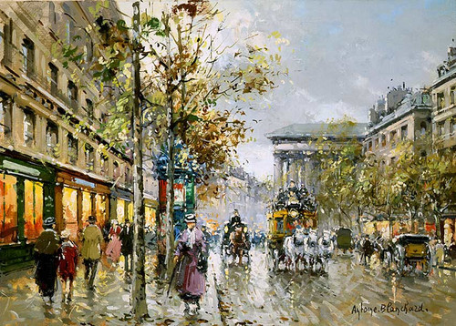 Boulevard De La Madeleine 4 By Antoine Blanchard